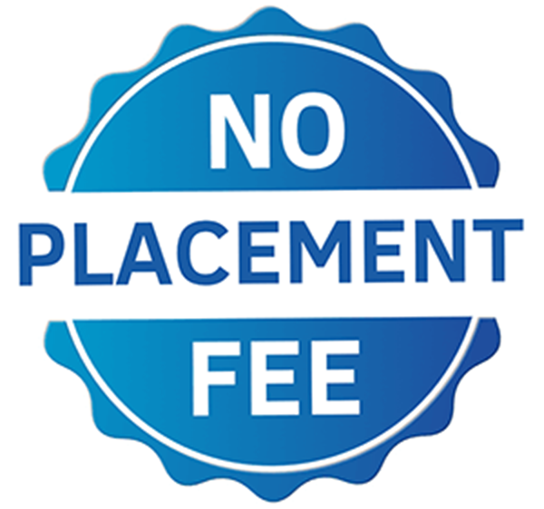 No Placement Fee